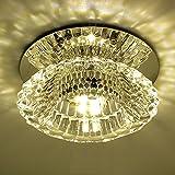 LightInTheBox Mini3w Moderne Kristall-LED-Erröten-Einfassung Leuchter-Deckenleuchte für Wohnzimmer Schlafzimmer Esszimmer Küche Badezimmer Study Room und Büro