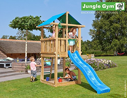 Hut Gym (Spielturm Jungle Gym Hut - 2,4 m Rutsche Sandkasten Kletterturm)