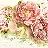 20 Servietten Mary Roses - Edle Rosen / Blumen 33x33cm