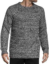 BLZ jeans - Pullover noir ras de cou en grosse maille