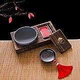 XP-ashtray Weinlese-Aschenbecher des Festen Holzes kreativer Stempelpersönlichkeit Chinesische Art Teetisch Europäischer Grauer Aschenbecher der Art