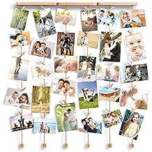 Love-KANKEI Cuadros Múltiples de Foto / Foto - Fotos de Collage / Marcos de Fotos para Decoración de Pared - 6 Líneas con 30 Clavijas