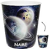 alles-meine GmbH Papierkorb / Behälter -  Weltraum - Planeten / Erde - Mond  - inkl. Name - 1..