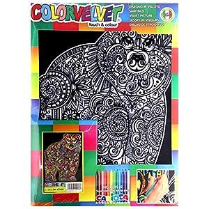 Colorvelvet – Quadro 35 x 47 in velluto da colorare – Orso – L123
