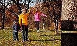 Gibbon Slacklines Classic Line, Gelb, 15 Meter (12,5m Band + 2,5m Ratschenband), für Anfänger, Beginner und Einsteiger, inklusive Ratschenschutz und Ratschenrücksicherung, 50 mm breit, perfekter Freizeitsport - 6