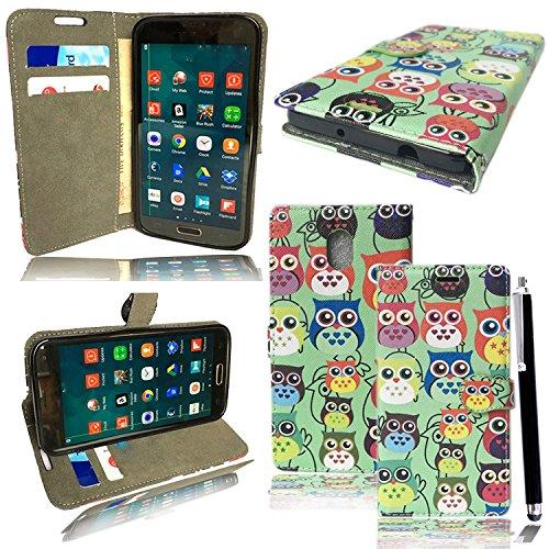 Mobile Stuff Lenovo P2 Hülle Premium Luxuriös PU lederhülle [Vollständigen Schutz] [Kreditkartenfach] Flip Brieftasche Schutzhülle im Bookstyle für Lenovo P2 + Stylus (Owl Hülle.)