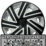 (Größe und Farbe wählbar) Radzierblenden 15 Zoll – CYRKON (Silber-Schwarz) passend für fast alle Fahrzeugtypen (universell)!