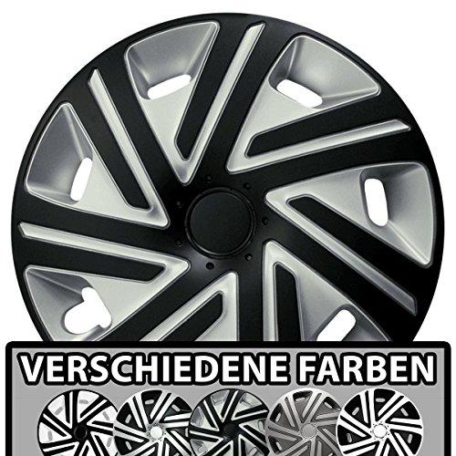 (Größe und Farbe wählbar) Radzierblenden 16 Zoll - CYRKON (Silber-Schwarz) passend für fast alle Fahrzeugtypen (universell)!