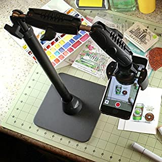 Arkon HD8RV29 Pro Phone Stand for Live Streaming Crafting Art or Tutorial Videos for Apple Phone X, 8 Plus, 8, 7 Plus, 7, 6S, 6S Plus, 6, 6 Plus, Galaxy S8, S7, Note 5, 4 Google Pixel and Pixel XL