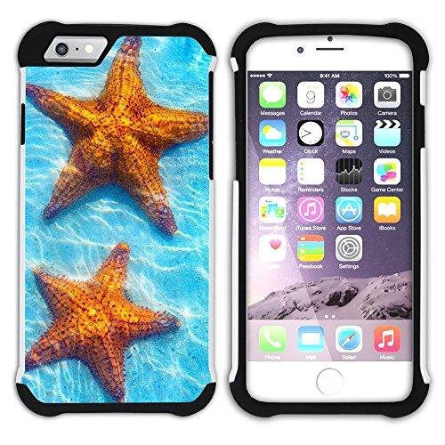 """Graphic4You """"Hello Summer"""" Seestern Sand Strand Hart + Weiche Kratzfeste Hülle Case Schale Tasche Schutzhülle für Apple iPhone 6 Plus / 6S Plus Design #21"""