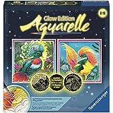 Ravensburger RAVENSbURGER Aquarelle Glow Edition Mini bunte Vogel