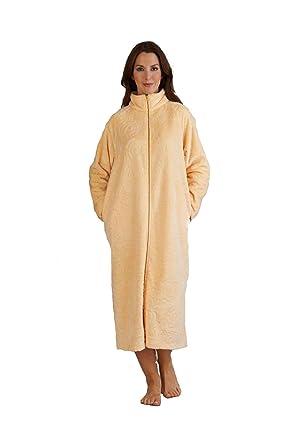 Lightweight Summer Fleece Zipped Dressing Gown - Blue - S/M/L/XL ...
