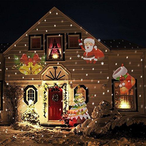 COOSA Proiettore Natale Luci LED 12 Diapositive ,Proiettore Lampada per la festa di compleanno di nozze Party Hallowmas decorazione domestica, lampada di notte (1)