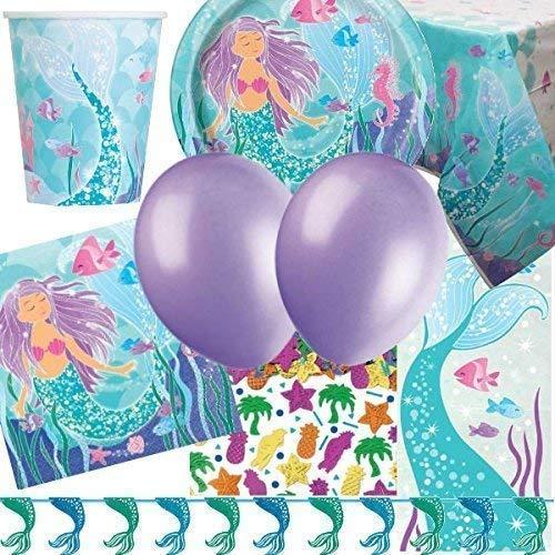 Party Bags 2 Go SIRENA Deluxe Artículos para fiestas Kit para 16
