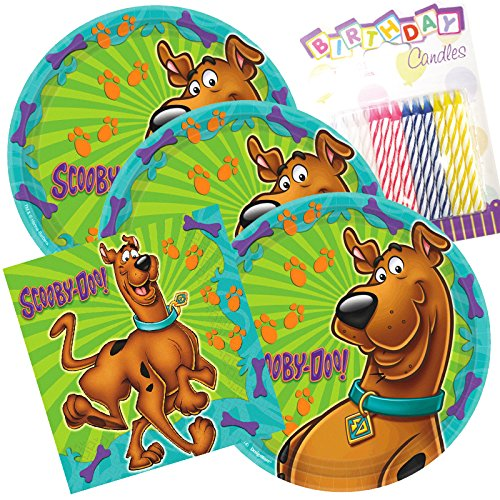 Lobyn Value Pack Scooby DOO Party Teller und Servietten dient 16 mit Geburtstag ()