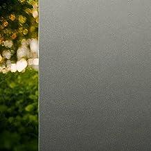 Rabbitgoo® Sin cola 3D vinilo pegatina translúcida adhesiva decorativa del vidrio de ventana autoadhesiva con Electricida Estática para el cristal de ventanal de baño cocina oficina Control de Calor y Anti UV 90*200cm