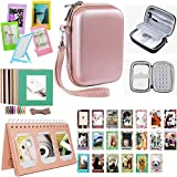 Katia Sprocket Portable Photo Printer Kit de accesorios para HP X7N07A, Polaroid ZIP Mobile Printer / Print Fotos de redes sociales con funda rígida, álbum de calendario, marcos, 2x3 adhesivo - Oro