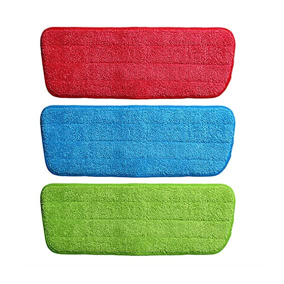 Jeval Mop Replacement Cleaning Pads Household Reveal Mop Microfiber Dust Pad Washable 14.5x43cm / Microfiber Mop Cushion Replacement Mop Head for Water Spray Mop Floor Cleaning House Tool - (36 Pcs / RED COLOR )