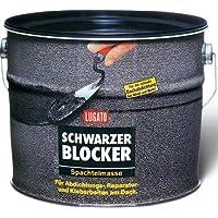 Lugato Schwarzer Blocker Spachtelmasse 5 kg - Für Abdichtungs-, Reparatur- und Klebearbeiten am Dach