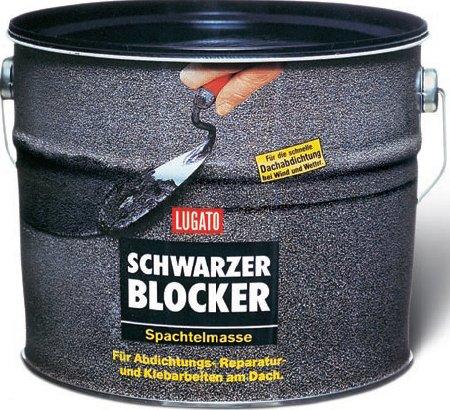 Lugato Schwarzer Blocker Spachtelmasse 1 kg
