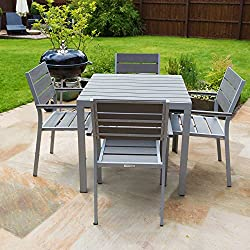 4 seater Outdoor Furniture Polywood Dining Table Set