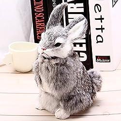 Zorbes Simulation Animal Squatting Rabbit Toy for Gift Decoration
