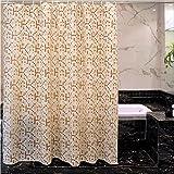 HM&DX Wasserdichter duschvorhang mit Ringe, Antischimmel Singt Badvorhänge Blumen für Bad Hotel-A 240x200cm(94x79inch)