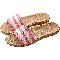 Pantofole Donna Antiscivolo Pantofole Uomo Lino Unisex Sandali Scarpe Piatte Ciabatte Scarpe da Spiaggia Estate…