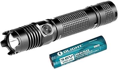 Olight? M1X Striker LED taktische Taschenlampe 1000 Lumen mit 18650 Akku und Cree XM-L2 LED f¨¹r Outdoor-Aktivit?ten, Schwarz ¡