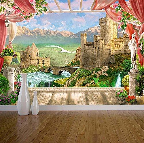 Preisvergleich Produktbild Fantasy Schloss Wand Wandbild Foto Tapete Römische Griechische Stil Garten Romantische,  X Large 1900mm x 1488mm