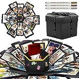 WisFox Explosion Box, Creativo Fai Da te a Sorpresa Esplosione Regalo Scatola Amore Memoria, Scrapbooking Photo Album Gift Box per il Compleanno di San Valentino Anniversary Wedding di Natale(3 Penna)