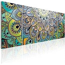 murando - Cuadro Mandala 200x80 cm - impresión de 5 Piezas - Material Tejido no Tejido - impresión artística - Imagen gráfica - Decoracion de Pared - Abstracto Arte f-A-0618-b-m