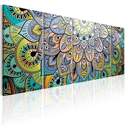 murando - Cuadro Mandala 200x80 cm Abstraccion - Impresion en Calidad fotografica - Cuadro en Lienzo Tejido-no Tejido - Arte f-A-0618-b-m