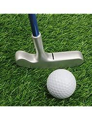 crestgolf 27 cm acero inoxidable dos forma niños Diana Putter, palos de golf junior, age5 – 8 (rosa) con oro cabeza/mango de color azul con plata Cabeza para tus hijos)