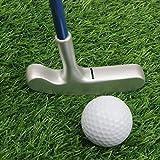 crestgolf 61cm Edelstahl zwei Wege Kinder Bullseye Putter, Golf Club Junior, age3.5(Pink/Blau Schaft mit Gold/Silber Kopf für Ihre Kinder), blau