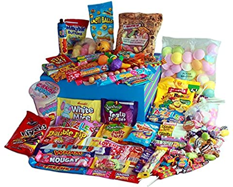 The BLUE WHOPPER by A Quarter Of - a Huge Giftbox Crammed with Over 80 Different Types of Retro Sweets!