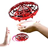 infinitoo Mini UFO Flying Ball Toys, Hand-Controlled Drone With 5 Infrared Sensors 360°Rotating and Flashing LED Lights Kids