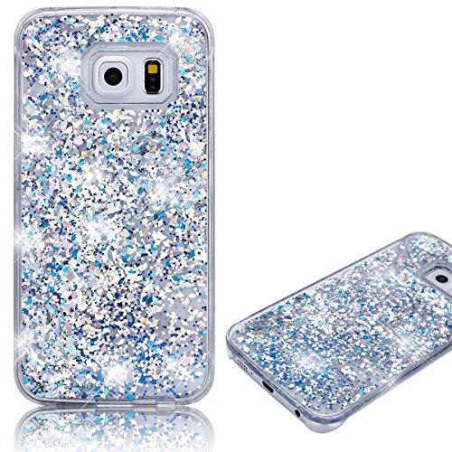 Samsung Galaxy S7 Caso, Bonice Samsung Galaxy S7 Custodia,Lusso 3D Bling Glitter Liquido Heart Pulire (Silicon Schermo Pelle Della Protezione)