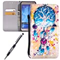 For Samsung Galaxy J7 case,Feeltech JAWSEU Samsung Galaxy J7 PU leather Wallet Flip Cover Multi Function Card Slots Protective Cases with Cute Animal & Colourful Pattern Design [Stand Function][Magnetic Closure] Flip Folder Card Holders Money Pouch Smart
