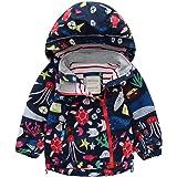 LAPLBEKE Bebé Niñas Impermeable A Prueba de Viento Chaquetas-Niños Capucha Fleece Abrigos-Primavera Otoño Al Aire Libre Ropa
