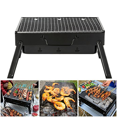 BBQ Holzkohlegrill Portable Smoker Grill Campinggrill Reisegrill FalBQ Holzkohlegrill Portable Smoker Grill Campinggrill Reisegrill
