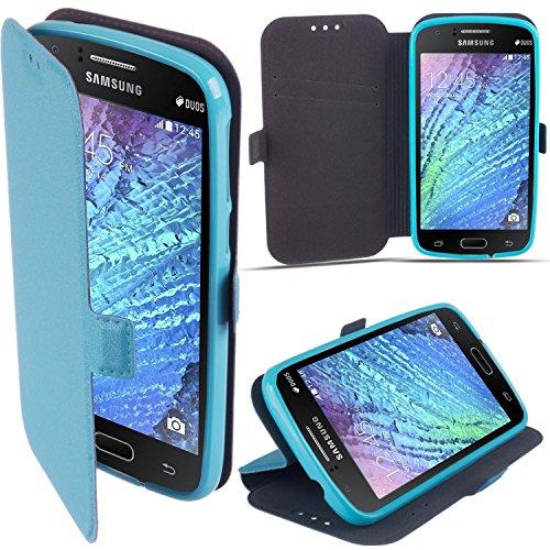 """BOOK CASE 3 für Apple iPhone 7 Plus 5.5""""Cover Handy Tasche Flipcase Etui FLEXI Buchform Kunststoff TPU Halterung für Kreditkarten (pink) blau"""