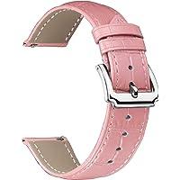BINLUN Bracelets de Montre en Cuir véritable Femmes Hommes Remplacement Rapide des Bracelets de Montre en Cuir avec…