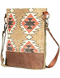 Brown Color Leather And Rug Tote Shoulder Bag Stylish Shopping Casual Bag Foldaway Travel Bag
