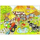 Goki - Puzzle la granja de abuelito y abuelita, 48 piezas, de madera (Gollnest & Kiesel 57619.0)
