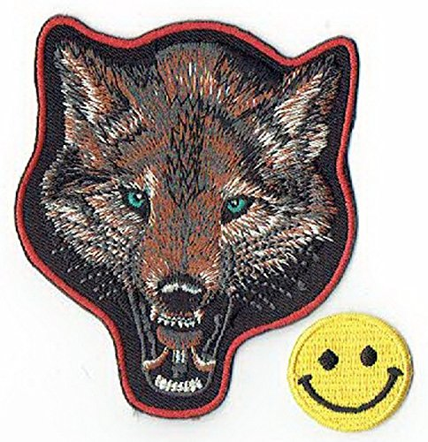Wolf Animal Wildlife apliques bordados hierro parches