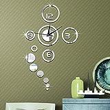 iknowy 1Set Hot Fashion DIY Home Dekoration Spiegel Oberfläche der Wandsticker Uhr Wohnzimmer Wand Uhr 2Farben