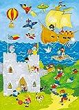 Fototapete BOYS WORLD 183x254 Jungen Kindertapete Pirat Schiff Ritter Burg Junge