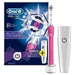 Oral-B Pro 750, Şarj Edilebilir Diş Fırçası Cross Action, Pembe