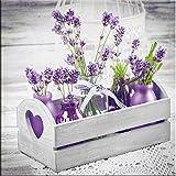 artissimo, Glasbild, 20x20cm, AG1352A, Purple arrangement I, lila Blumen, Bild aus Glas, moderne Wanddekoration aus Glas, Wandbild Wohnzimmer modern